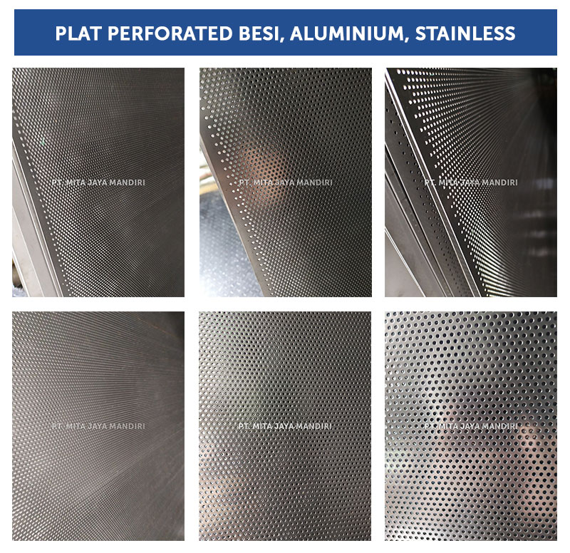 Plat Perforated Aluminium Diameter Lubang mm